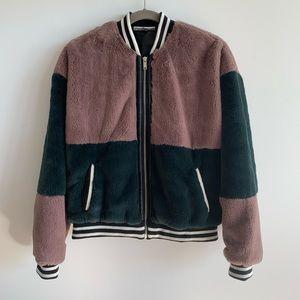 NWOT Noisy May faux fur jacket size Medium